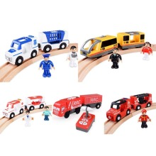 Remote Control RC Train Set RC Electric Express Truck Magnetic Train Carriage Wooden Track Children Electric Toy Kids Toys Gift (China)