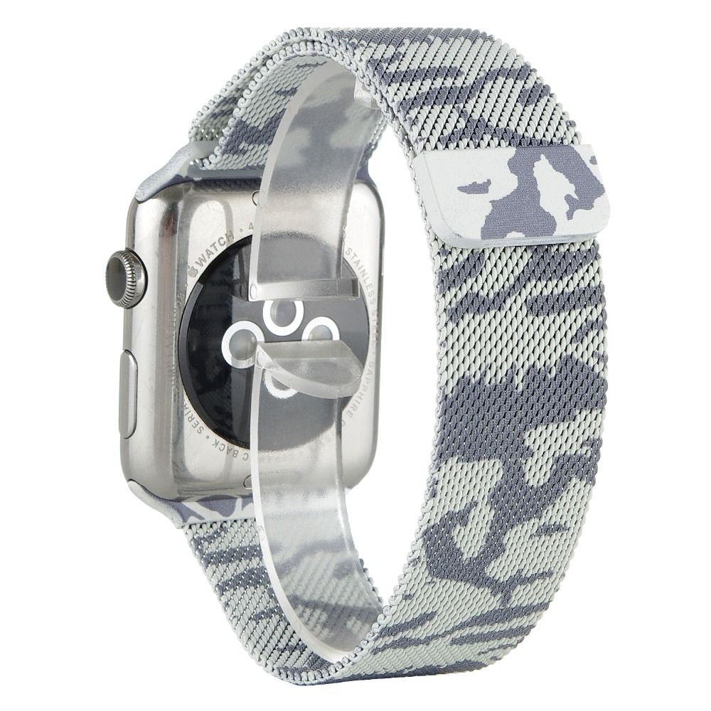 For Apple Watch Band iwatch band Stainless steel Ranbow military camouflage Milanese Mesh Loop Strap Watchband Classic 42mm 38mm<br><br>Aliexpress