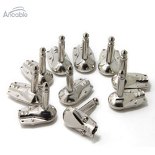 "10Pk 1/4"" Right Angle Plug TS Mono Heavy Duty Flat Low Profile Pancake Style -Guitar, Instrument, Speaker/Microphone/Patch Cable(China)"
