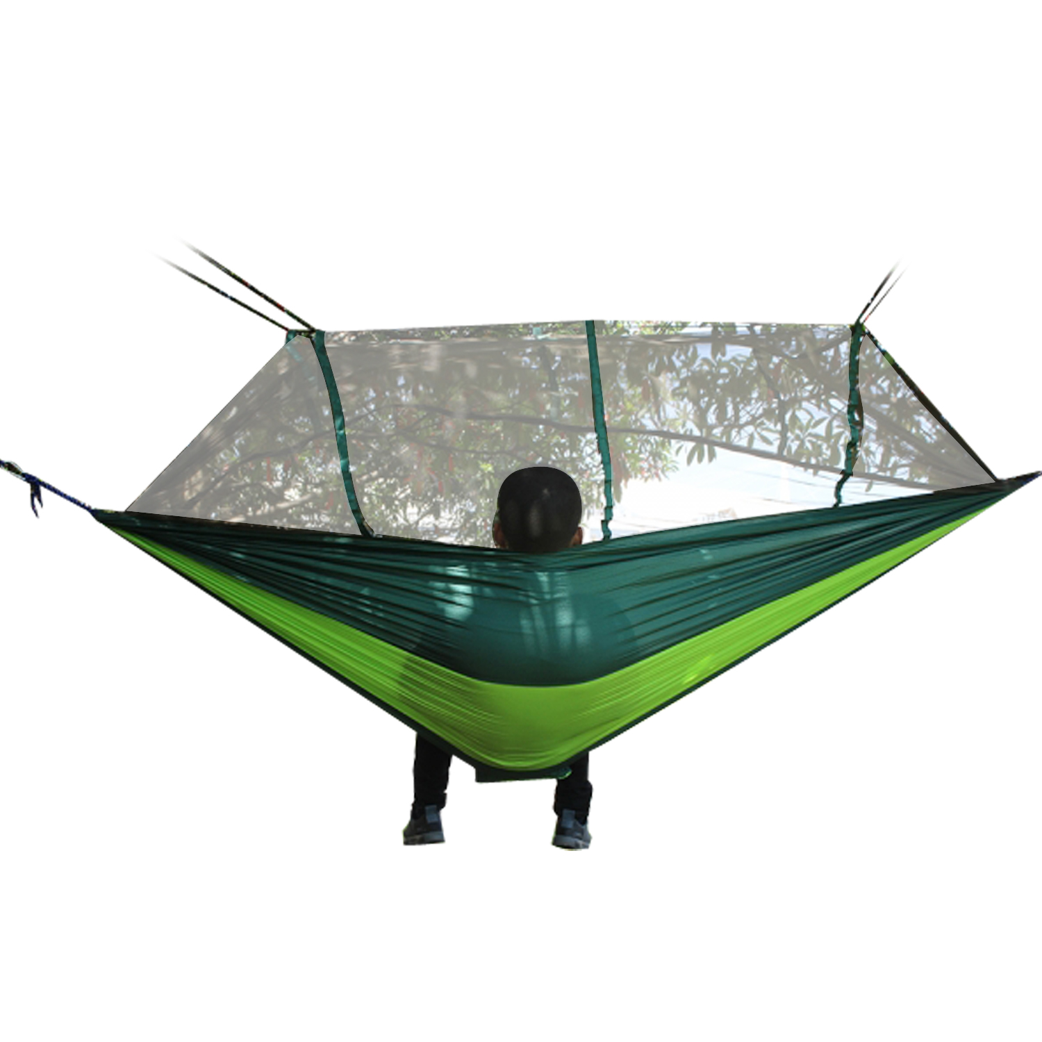 Double Camping Hammock Mosquito Net Parachute Hammock Mat Single Hamack 2 Person Tent Portable Hiking Backpacking Rede De Dormir<br>