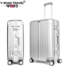 2017 Y-ROAD TRAVEL 20''24''26''29''Rolling Luggage Bags Aluminum Frame PC Shell TSA Lock Travel Trolley Case Suitcase With Wheel