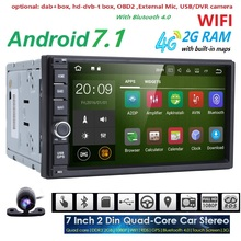 Quad Core autoradio 2 din android 7.1 radio gps navigation car dvd player 2din steering wheel Rear View Camera WIFI 4G 2G RAM BT