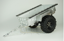 1:10 metal trailer trailer lorry and wheels set fit SCX10 CC01 F350 HILUX 90034 RC4WD D90(China)