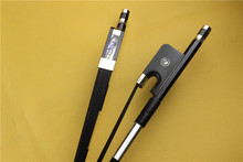 New Professional 3/4 Carbon fiber Double Bass Bow black hair ebony frog