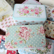 3pcs/lot Wholesale New Style Floral Accessory Magnetic Card Box Particular Baked Cookie Tin Case