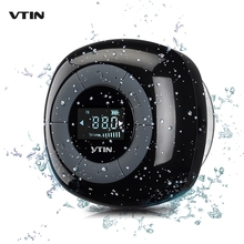 VTIN Portable Mini Speaker IPX4 Waterproof Bluetooth Speaker FM Radio Digital Tuner LCD Display Loudspeakers Music Sound Box(China)