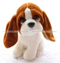 "1Pc 18CM 7"" Cute Lovely Basset hound Dog Soft Plush Stuffed Doll Toy Gift KTK"