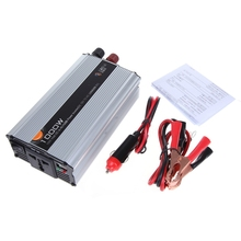 Car Truck DC 12V to AC 220V 1000W Power Inverter Charger Converter Adapter Car-styling Free Shipping