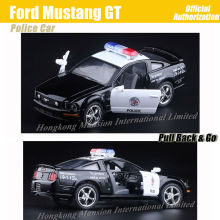 1:36 Scale Alloy Metal Diecast ForPolice Car Model For Ford Mustang GT Collection Model Pull Back Toys Car - Black(China)