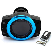 Motorcycle LCD Alarm Audio Speakers Support TF card USB MP3 Player+ FM radio+Security Alarm System Waterproof