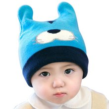 Cute Lovely Infant Baby Girls Boy Toddler Solid Color Caps Winter Warm Knitted Crochet Hat Tiger Pattern Cap Kids Caps