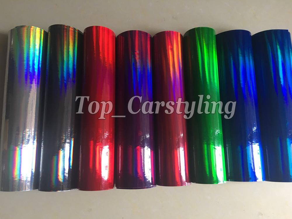holographic chrome rainbow car wrapping foil vinyl