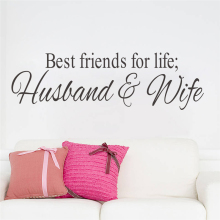 best friends for life husband and wife quotes wall stickers for wedding bedroom home decor removable art decals vinyl black