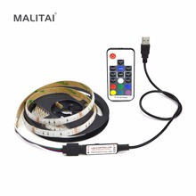DC 5V USB Cable 2835 3528 LED Strips light Color Changing RGB LED lamp String Decoration TV PC Monitor Background Bias lighting(China)