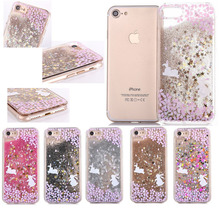 Colorful Glitter Stars Dynamic Liquid Quicksand Hard Case Meteor Twinkling Cover for iPhone 6 6S 7 Plus 4.7 5.5 5 5S SE