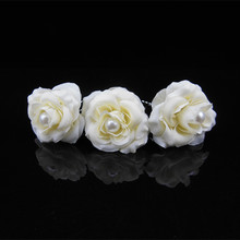 Hot cloth art flower hair accessories Bride pearl white hair go u photo photo headdress