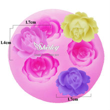 M005 3 rose flower Arylic Resin Flower silicone mold,fondant molds,sugar craft tools,chocolate mould,soap candle molds for cake