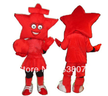 Red Star Soccer Ball Football Baby Mascot Costume Football Games Cartoon Mascotte Mascota Outfit Suit  SW19 EMS Free Shipping