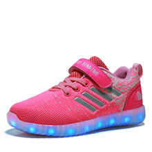 Children Shoes Light Led luminous Sneakers Boys Girls 7 Colors Sport Casual Shoes For Kids Glowing Sneakers USB rechargeable