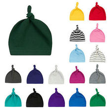 Baby Organic Knotted Hat Soft Baby Size Beanie Hat Warm Knit Infant Cap Cute Toddler Kids Hat 20 Colors for Unisex Girls Boys