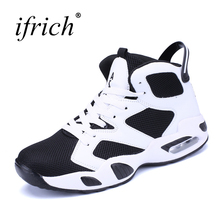 Ifrich New Arrival Air Cushion Mens Sports Shoes Basketball Black Gym Training Sneakers Lace Up Couples Basketball Trainers(China)