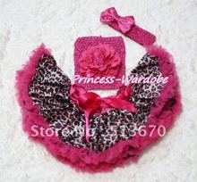 Hot Pink Gold Leopard Baby Pettiskirt, Hot Pink Peony Hot Pink Crochet Tube Top, Hot Pink Bow Headband 3PC Set MACT123
