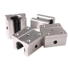 4pcs New SBR16UU Linear Motion Bearings 16mm Aluminum Open Linear Router Bearing Shaft Block
