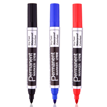 Large Black Red Blue Plastic Oily Waterproof Permanent Marker Pen Office School Supplies Free Shipping 2001