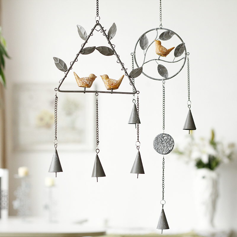 Creative Metal wholesale bird garden wind chime me...