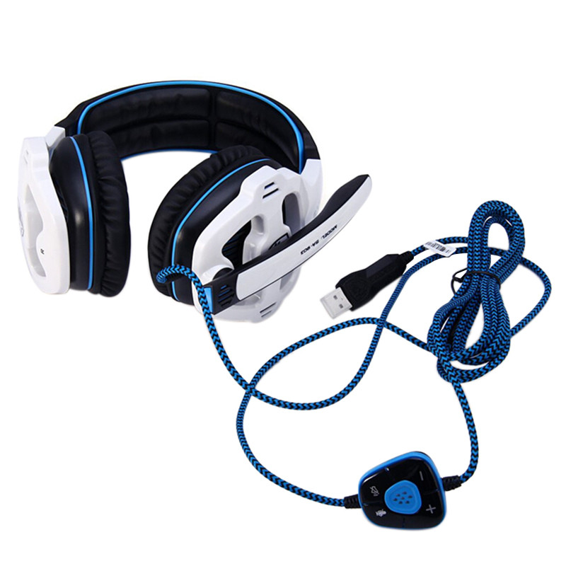 Sades SA-903 7.1 Surround Sound channel USB Gaming Headset Wired Headphone with Mic Volume Control Mic Earphone High Quality