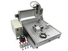 2200W CNC carving machine CNC ROUTER 6040Z-VFD 4axis cnc wood miller with 60*40cm working size for wood carving, can do 3D