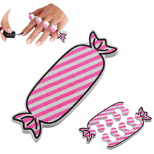 2Pcs/set Nail Art Toe Separators Soft Foam Cute Candy Detachable Foot Fingers Braces Care Polish Gel Assist Manicure Pedicure