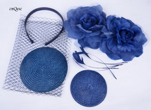 Wholesale Attractive multiple color Navy blue DIY sinmay fascinator hat bridal fascinator for wedding Races party.FREE SHIPPING