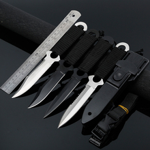 440C Stainless Steel knife diving scuba outdoor camping rescue survive defense knife with serrate blade ABS Scabbard
