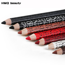 1 pcs Multicolor Eyeliner Pencil Functional Eyebrow Eye Lip Makeup Waterproof Colorful Cosmetic(China)