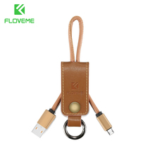 FLOVEME Genuine Leather Cable Micro USB Fast Charging Charger Cables Samsung S5 S6 S7 edge Mobile Phone Data Wire Line