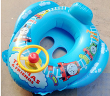Inflatable Toddler Baby Thomas Train Cartoon child swim ring 0-4 years child swim rings Seat Children Lifebuoys Swimming Pool