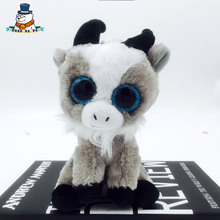 [QuanPaPa] New 15Cm cotton Animals Plush Toy Goat Doll Regular Stuffed Animals Ty beanie boos Plush Toy For Baby(China)