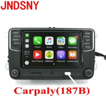 "JNDSNY RCD330G CarPlay RCD330 Plus CarPlay APP Noname 6.5"" MIB Car Radio For Golf 5 6 Jetta CC Tiguan Passat Polo 6RD035187B(China)"