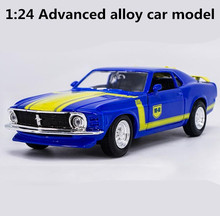 High simulation Ford 1967 Mustang GT,1: 24 advanced alloy car model,metal diecast,retro collection model toys, free shipping(China)
