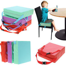 Children Booster Chair Cover Pad Baby Kids Dining Seat Soft Leather Cushion Pad Mat Home Accessories(China)