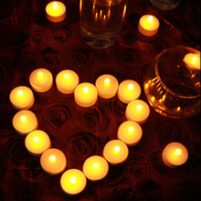 24pcs Tea light Remote Control Flickering Flameless LED Candles bougie Bulk velas Electric Candles chandelle Wedding Decoration(China)