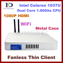 NEW Fanless thin client Nettop, Intel Celeron 1037U/Pentium 2117U Dual Core,2GB Ram,64GB SSD 1.8Ghz, 1080P HIMI, Windows 7, WIFI