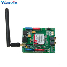 Updated SIMCOM SIM900 Module Quad Band Wireless GSM GPRS Shield Development Board + Antenna For Arduino Green(China)