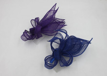 Popular Sinamay Fascinator Headpiece For Women Royal Purple Wholesale And Retail