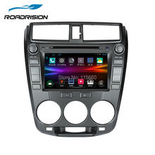 Android 4.4.4 Car Multimedia DVD for HONDA CITY 2008-2013 stereo headunit gps Automotive navigation support OBD2 mirror-link