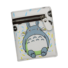 2017 Japan Cartoon Wallets With Zipper Coin Pocket ATTACK ON TITAN / MY NEIGHBOR TOTORO Wallet Cute Cat Purse Girls Anime Wallet(China)