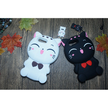 Cute 3D Cartoon Fortune Cat Smiling Kitty Phone Case For Sony Xperia X Compact Z L36H XZ XA Ultra M4 Aqua Soft Silicone Cover