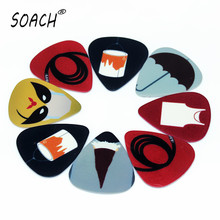 SOACH 50PCS 0.46mm high quality guitar picks two side pick Simple personality picture picks earrings DIY Mix picks guitar(China)
