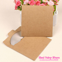 50pcs Creative CD Paper Case Bag,Blank Kraft Envelopes, Natural color Plain Kraft Paper Gift Bag,Party Cards Paper bag